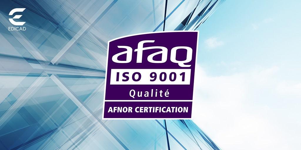 EDICAD certifiée ISO 9001